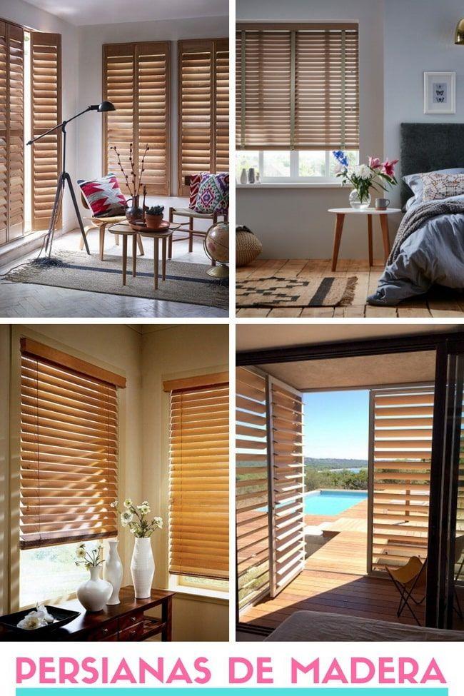 Persianas de madera: una buena solución para decorar tu hogar