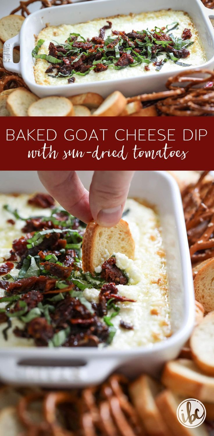 Warm Goat Cheese Dip with Sun-Dried Tomatoes