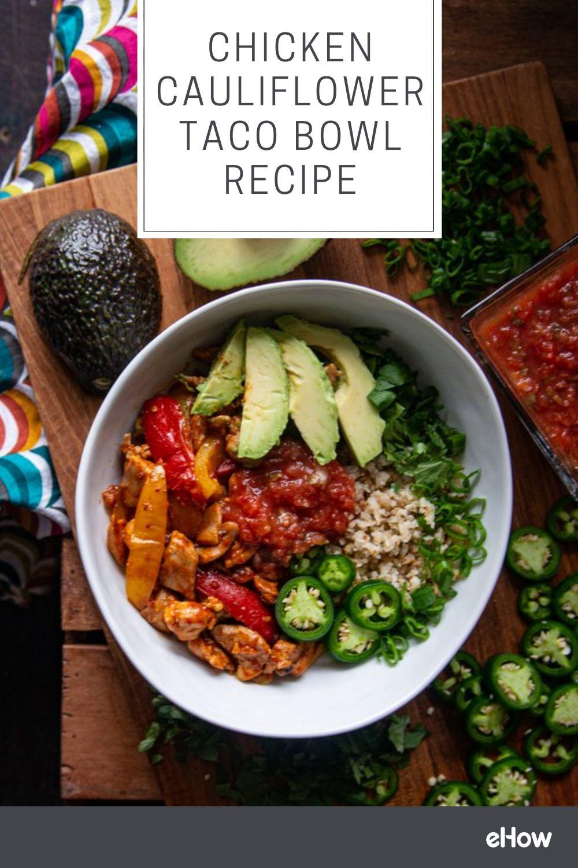 Chicken Cauliflower Taco Bowl Recipe