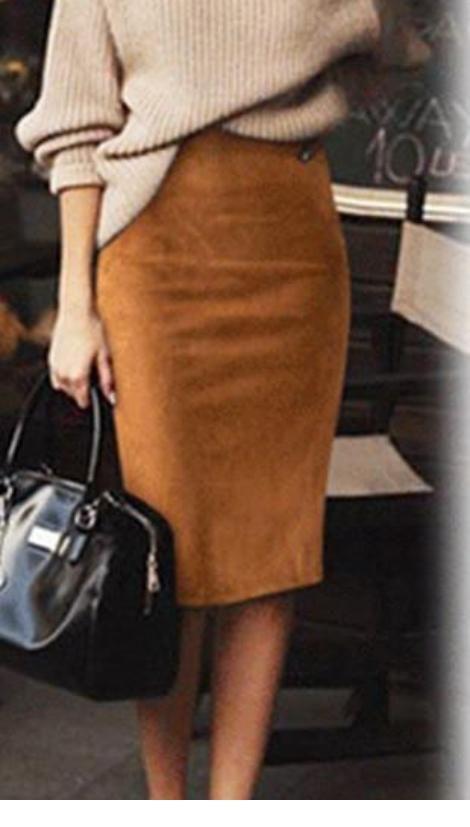 Nice brown pencil skirt