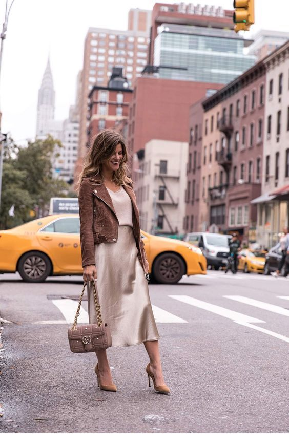 Chic brown and beige outfit