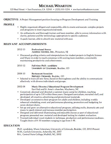 Chronological Resume Examples Samples Chronological Resume - example of a chronological resume