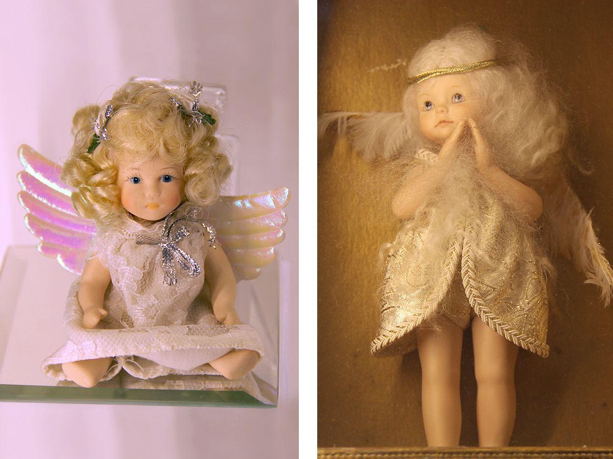 Слева ангел детства Алисы Фрейндлих, справа – ангел из коллекции антикварных ангелов. Фото: Evgenia Shveda