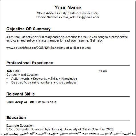 federal resume example 2012 resume cv cover letter