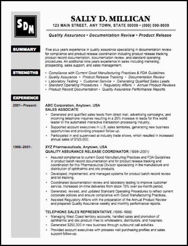 technology quality assurance specialist resume qa resume