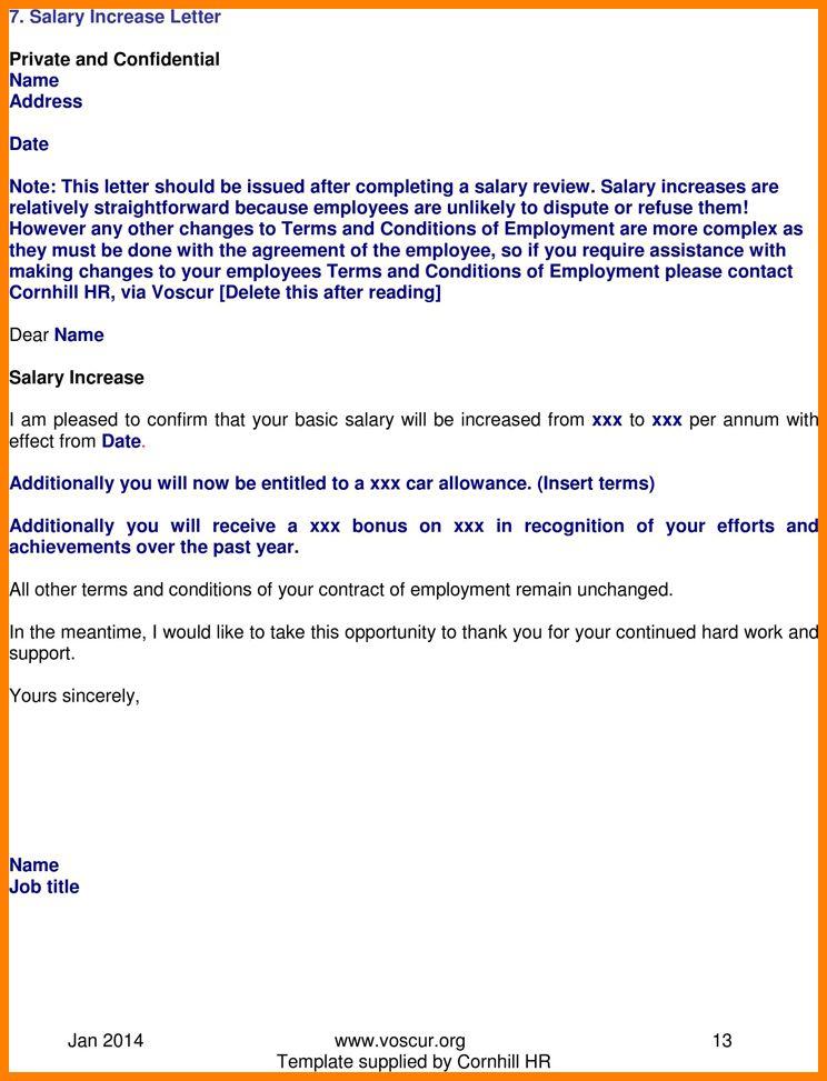 Raise Salary Letter - Jembatan-Timbang.Co