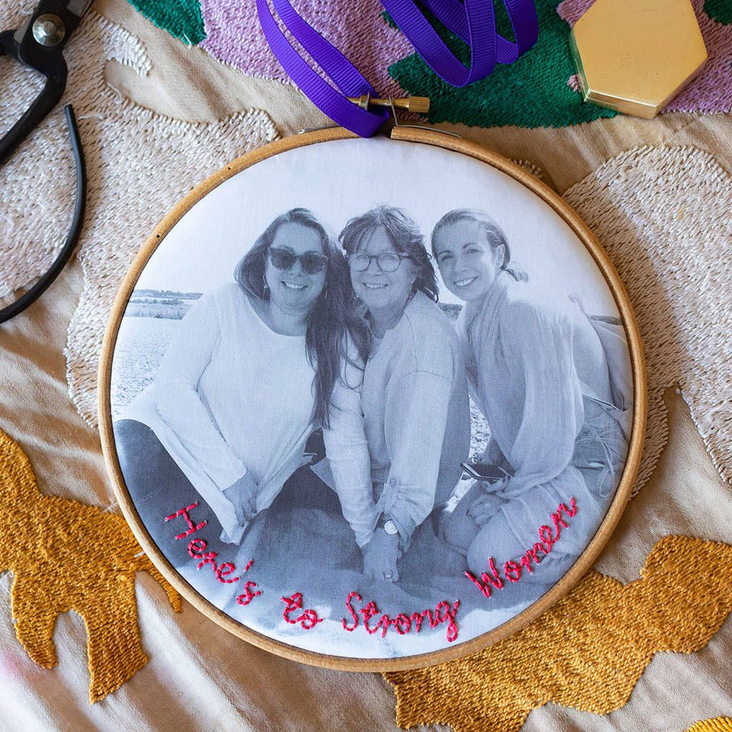 'Here's To Strong Women' Hoop