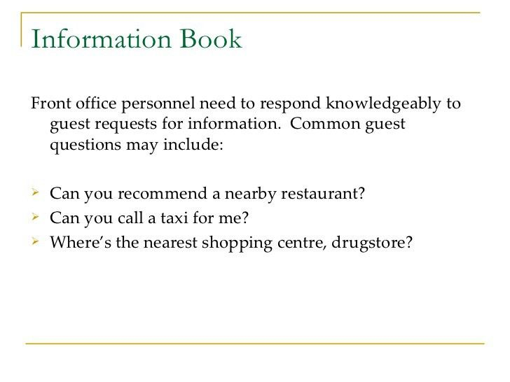 front desk hotel cover letters