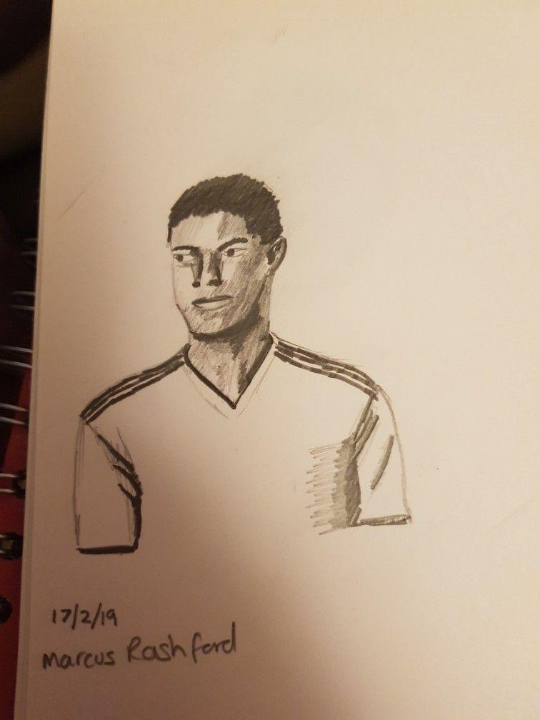 Marcus Rashford Sketch Male Sketch Art Marcus Rashford