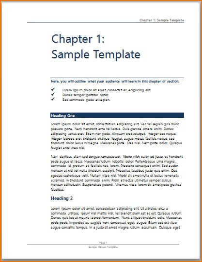 Word Training Manual Word Manual Template 5 Free Word Documents - sample user manual template