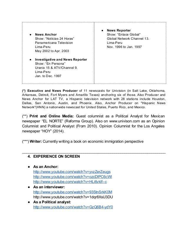 news producer sample resume news producer resume - Show Producer Sample Resume