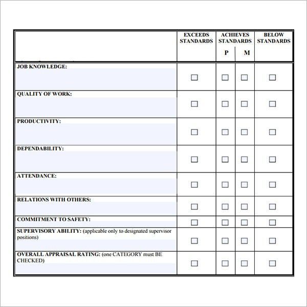 Staff Evaluation Template Employee Evaluation Form 41 Download - how to create evaluation form