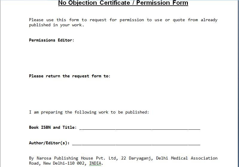 ... Sample Format Of No Objection Certificate From Employer No   Noc  Template ...  No Objection Certificate Format From Employer