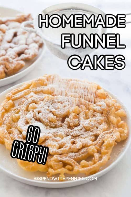 This easy funnel cake recipe is made from scratch & tastes delicious! It's the perfect sweet treat!