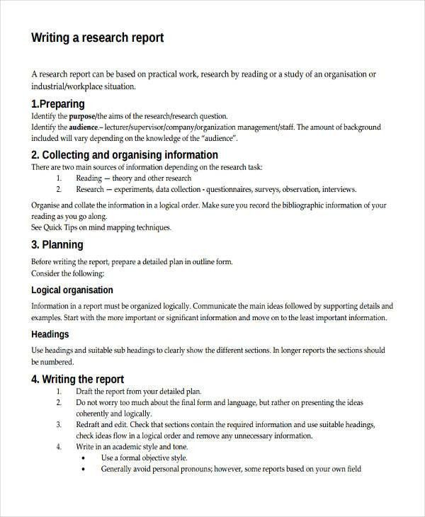 ... Formal Reports Samples Sample Formal Report 10 Documents In Pdf   Sample  Research Reports ...