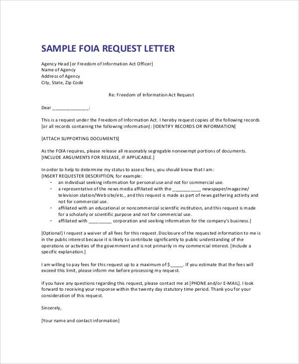 Best foi request template contemporary example resume templates great foia request template photos example resume templates spiritdancerdesigns Image collections