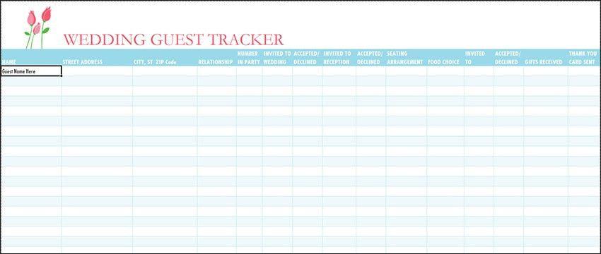 Party Guest List Template Party Guest List Office Templates, 10 - wedding guest list template