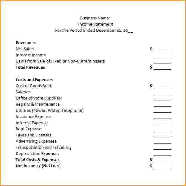 Proper Income Statement Format Free Income Statement Template - proper income statement format