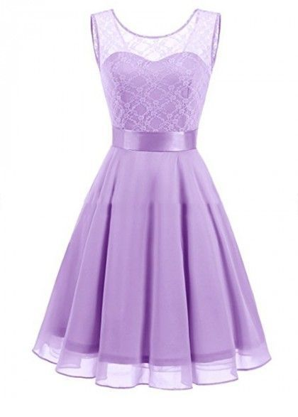 Very sweet purple dress design