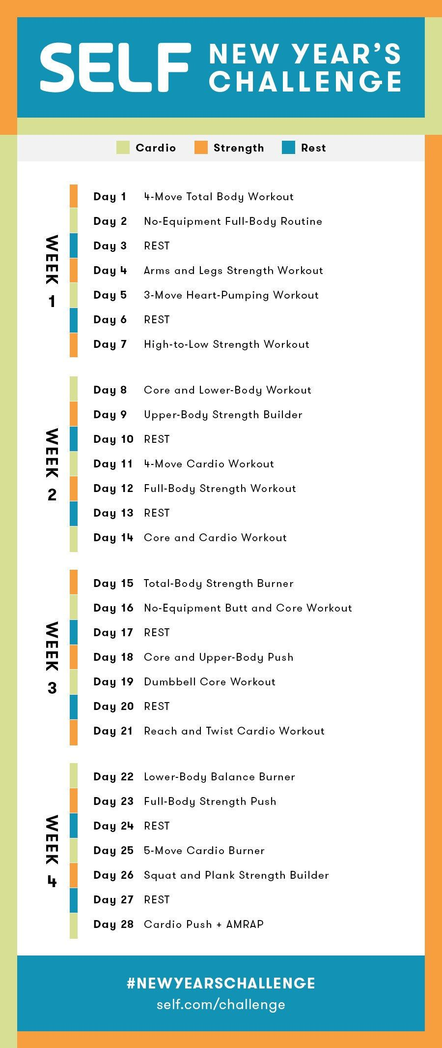 A Strength And Cardio  4-Week Workout Plan You Can Do At Home