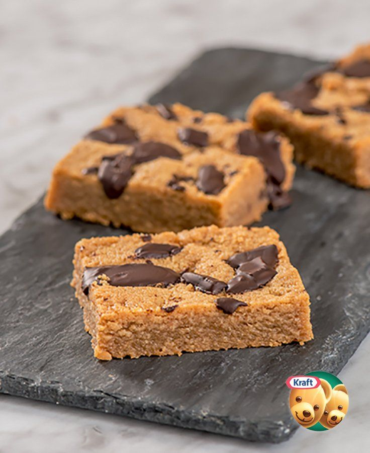 Super Easy KRAFT Peanut Butter Squares #recipe