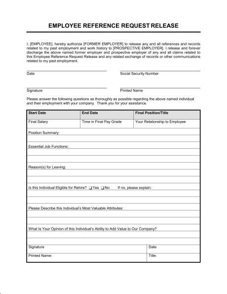 Request For Reference Template Request For Employment Reference - employment reference letter sample