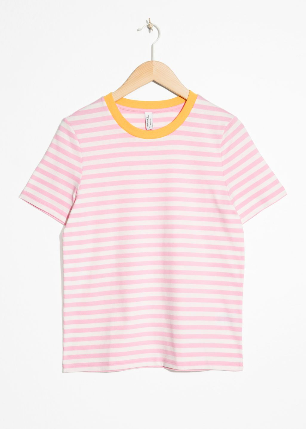 Striped Tee - Pink / Yellow - Tops & T-shirts - & Other Stories