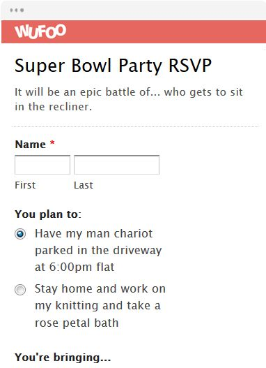 Party Rsvp Template Rsvp Template Designs Exclusively From - survey form template