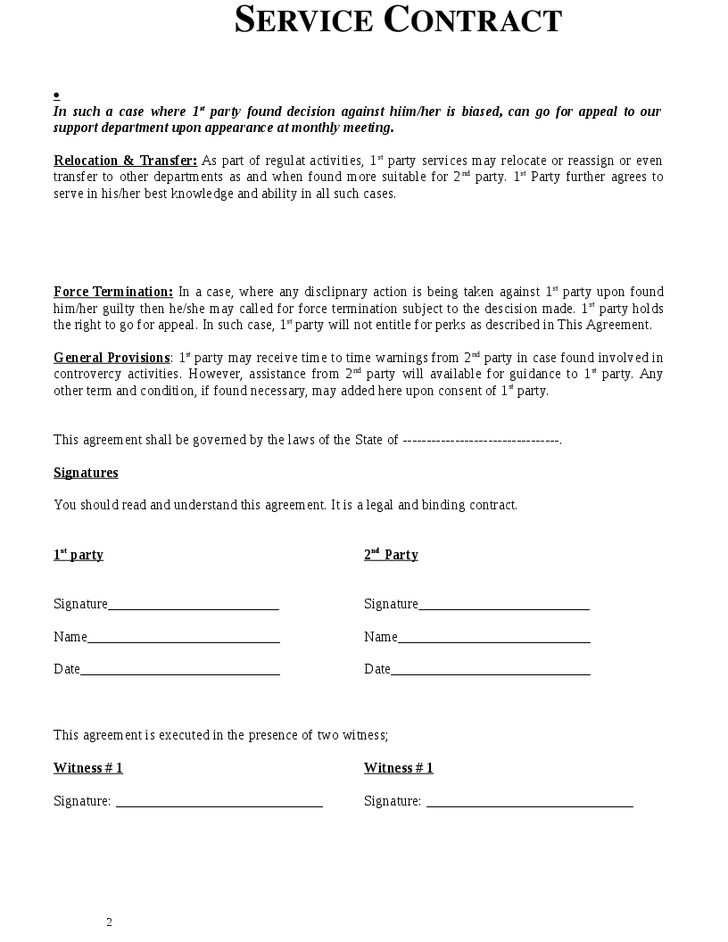 Simple Contract For Services Template Agreement Template For - simple contract template
