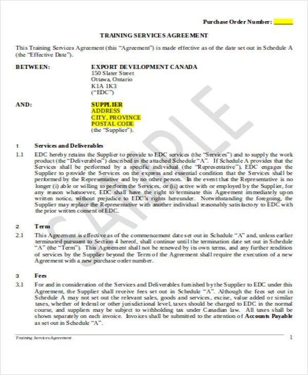 Export Contract Sample Export Contract Template Contract - purchase order contract template