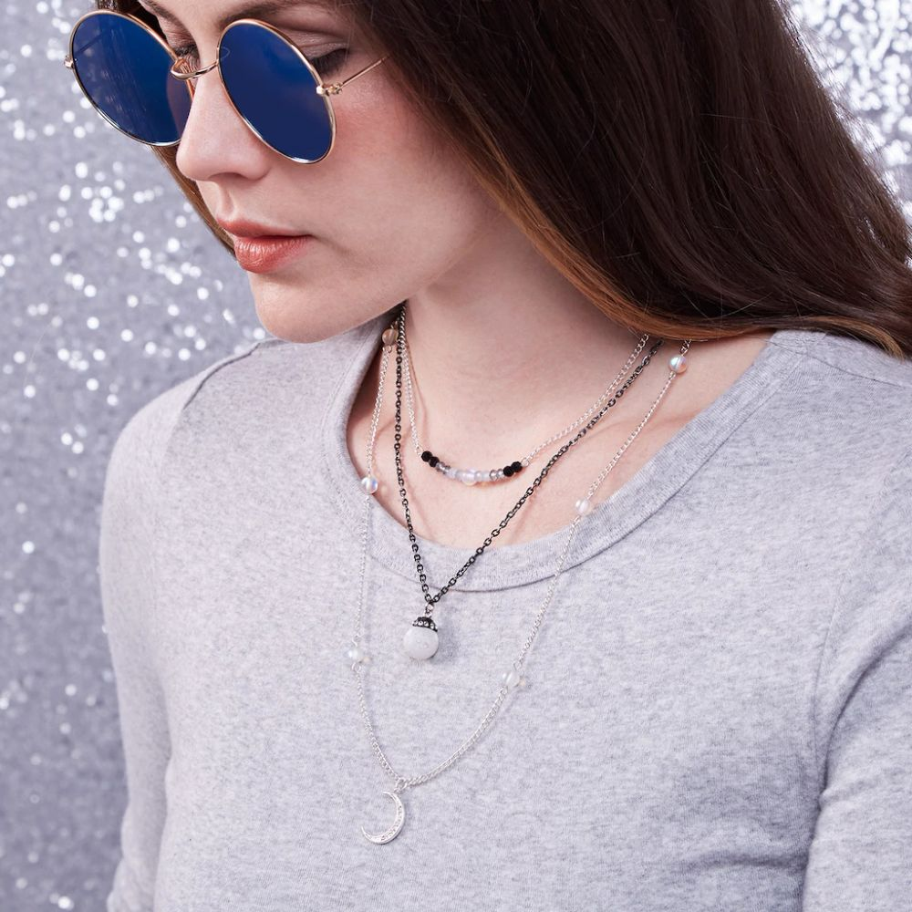 Halloween Layered Moon Necklaces
