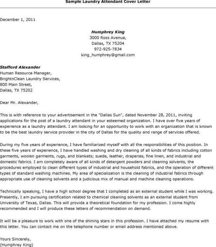 Hotel Laundry Attendant Application Letter. Laundry Aide Sample Resume |  Env 1198748 Resume.cloud .