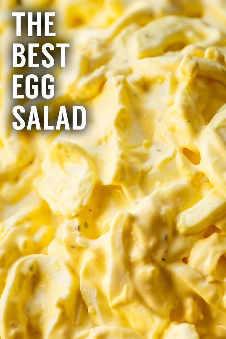 The Best Egg Salad! A classically simply recipe for homemade egg salad that can either be enjoyed on its own or used as a base for your own additions and flavors. Perfect as a sandwich or side dish! | HomemadeHooplah.com