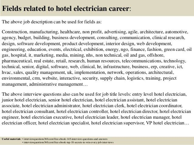 Lovely ... Electrician Job Duties Electrician Job Description Resume   Airfield  Electrician Cover Letter ...