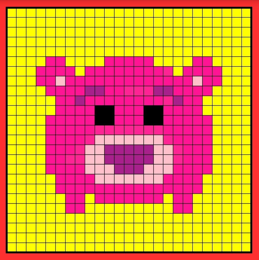 Lotso Tsum Tsum Perler Bead Hama Bead Crochet Graphghan