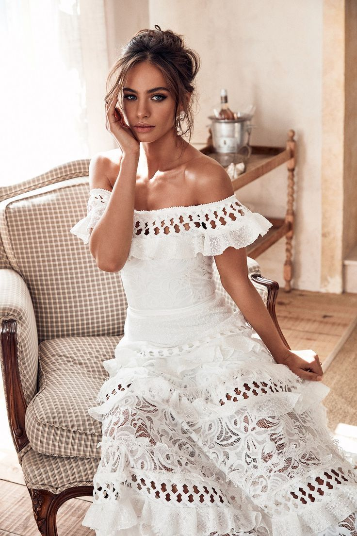 These are the 10 most stunning wedding dresses of 2018 – fun and flirty Grace Loves Lace off-the-shoulder Coco wedding dress #bridalmusings #bmloves #graceloveslace #weddingdress #weddingdresses #weddingdressshopping #wedding #laceweddingdress #simpleweddingdress