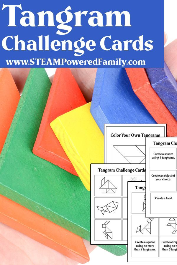 Tangram Printable for STEM Learning and Skill Development