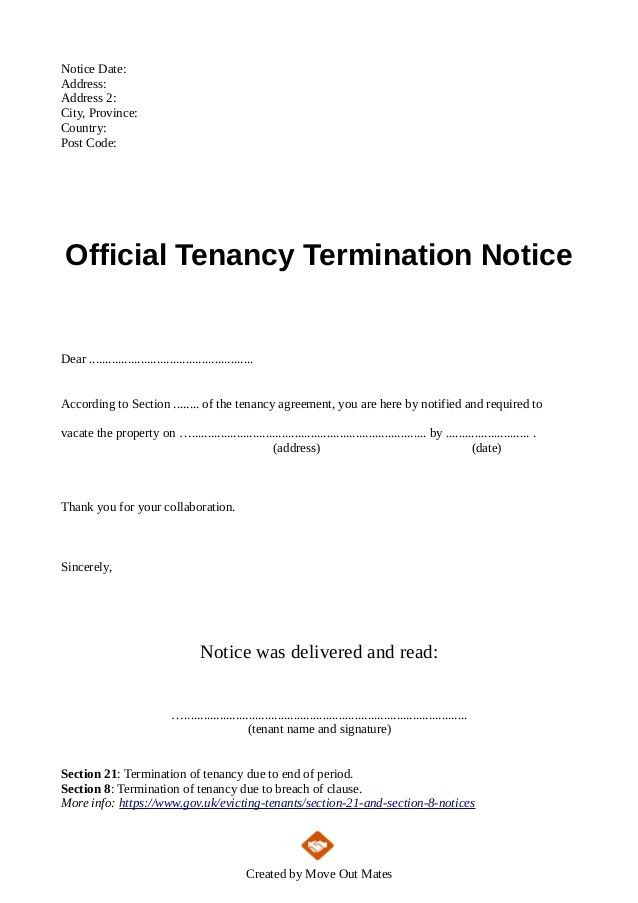 Letter To End Lease Agreement Lease Termination Letter Templates - lease termination letter example