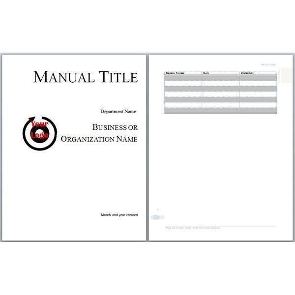Free Training Manual Templates 7 Training Guide Templates Word - sample user manual template
