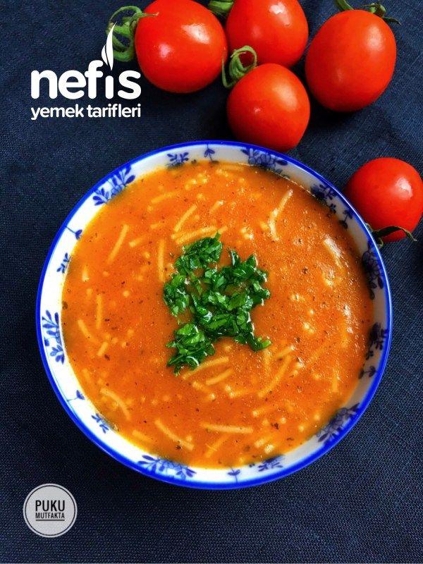 İçinizi Isıtacak Şehriyeli Domates Çorbası - Nefis Yemek Tarifleri
