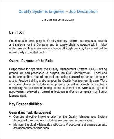 Software Support Engineer Job Description Top 10 Software Support - project engineer job description