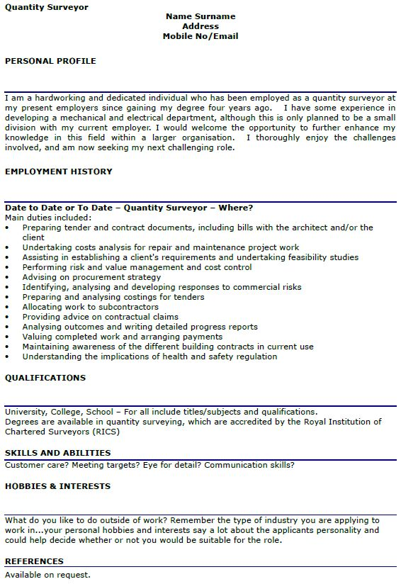 quantity surveyor resume quantity surveyor resume samples land surveyor resume quantity surveyor resume - Land Surveyor Resume