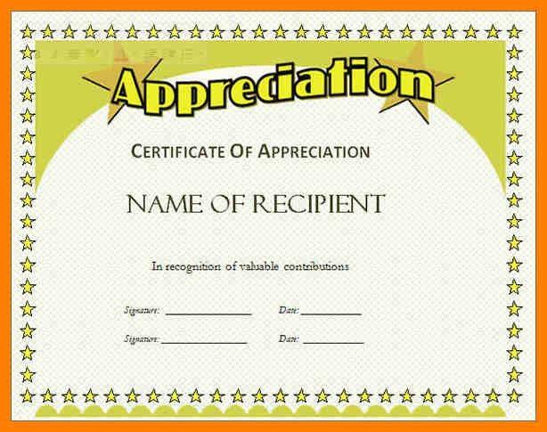 military certificate of appreciation template howtobillybullock - certificate of appreciation words