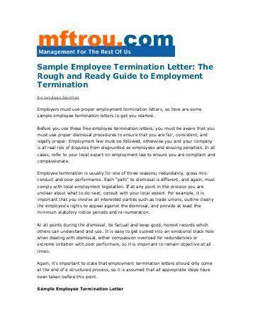 Employee Termination Guide  NodeCvresumePaasproviderCom