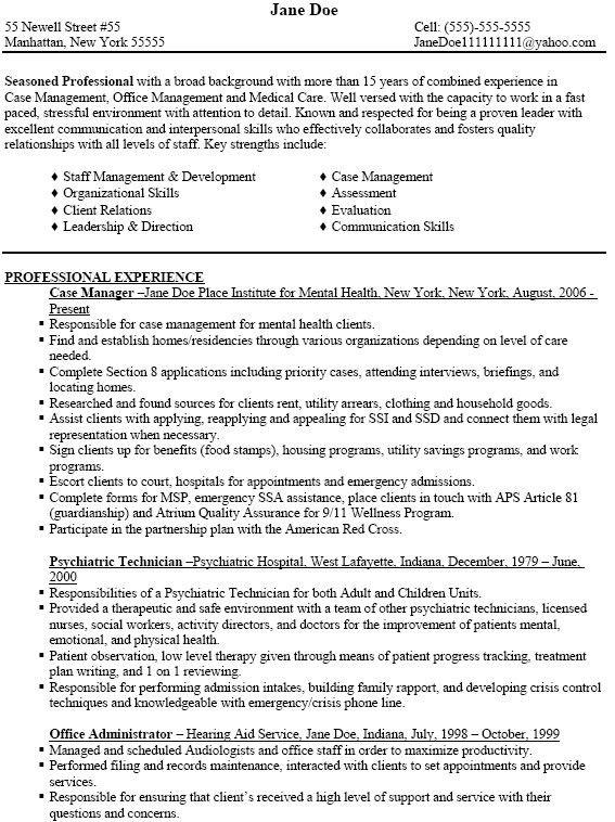 Lab Manager Resume Top 8 Lab Manager Resume Samples 1 - case management job description
