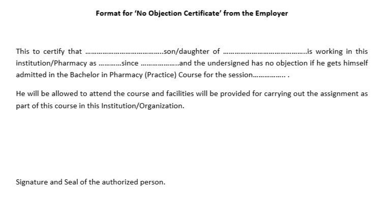 No Objection Certificate From Employer Sample - Fiveoutsiders - no objection certificate template