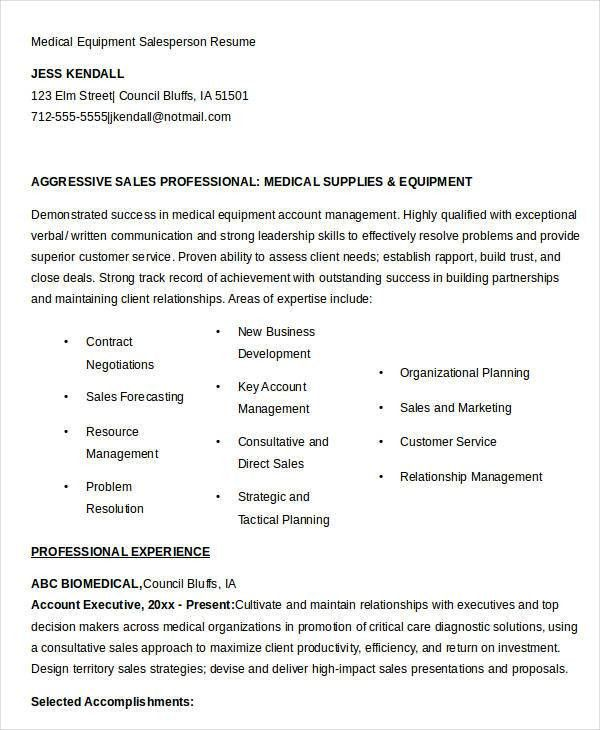 salesperson resume sales person resume samples sample resume for