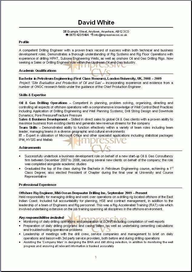 resume example uk