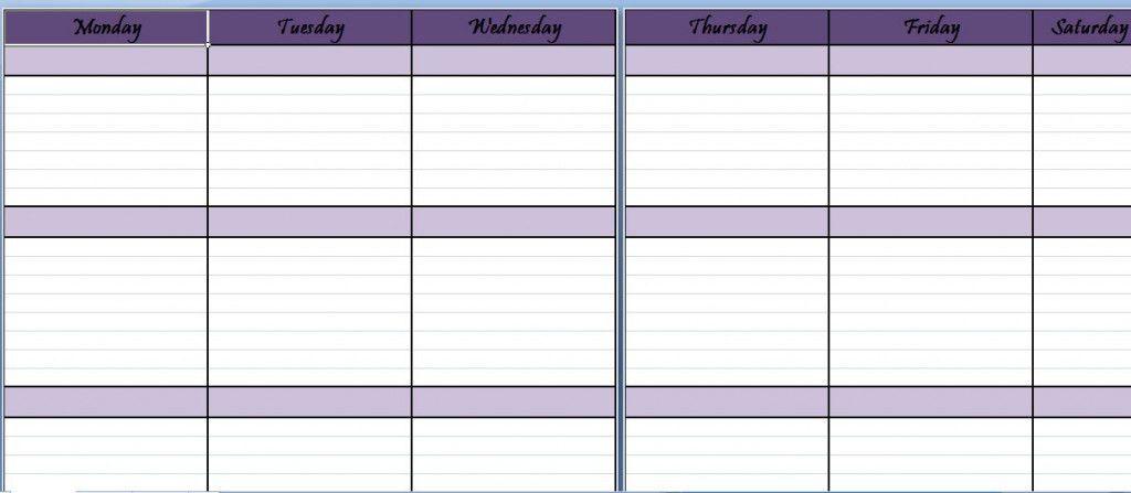 One Week Planner Template 10 Weekly Planner Templates Word Excel - weekly agenda