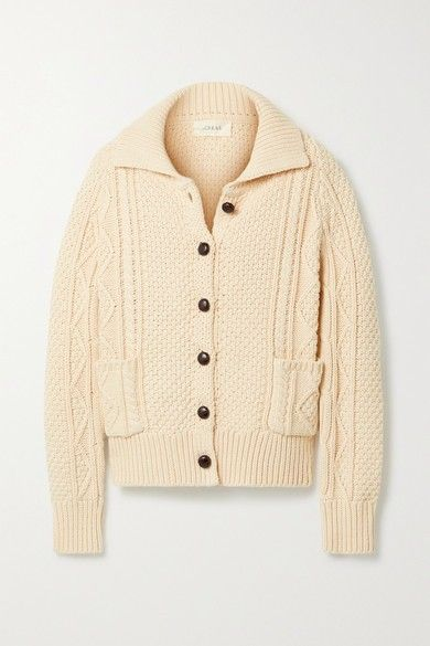 The Cable cotton-blend cardigan